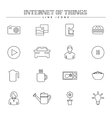 Internet of things and smart home line icons set vector image vector image
