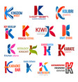 letter k corporate identity business icons vector image vector image