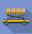 loader platform icon flat style vector image vector image