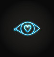 love in eye neon icon in line style vector image vector image