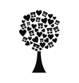 Love tree with hearts and gift boxes icon vector image vector image