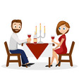 man and woman have dinner at the table by vector image
