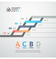 Modern business step origami style options banner vector image