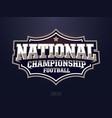 modern professional american football logo vector image vector image