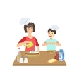 Mother And Child Cooking Together vector image vector image