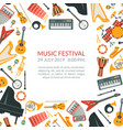 music festival banner template with musical vector image
