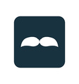 mustache icon Rounded squares button vector image