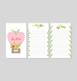 my notes printable paper diary page notebook vector image