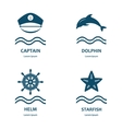 Nautical and sea icons badges and labels vector image