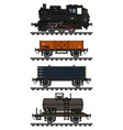 old freight steam train vector image vector image