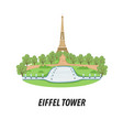 on the theme of the sights of paris vector image