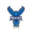 phoenix mascot logo vector image