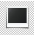 photo frame isolated on a transparent background vector image