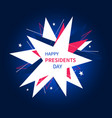 presidents day banner in abstract style vector image