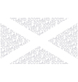 Scotland Text Flag vector image vector image