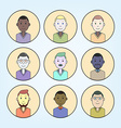 Set of Abstract Flat Simple Cartoon Avatars vector image vector image