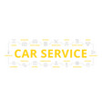 set of car service and auto repair thin vector image