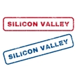 Silicon Valley Rubber Stamps vector image vector image