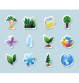 Sticker icons for nature vector image