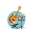 symbols of the musician profession acoustic vector image vector image