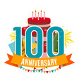 template 100 years anniversary congratulations vector image vector image