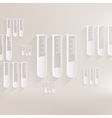 Test tube icon microbiology equipment vector image vector image