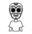 traditional katrina mexican character vector image