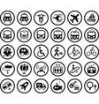 transportation icon vector image vector image