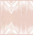 trendy autumn foliage mint colored gold blush vector image vector image
