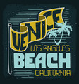 venice beach los angeles california vintage vector image