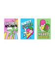vertical banner for hawaiian summer holiday party vector image
