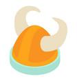 viking helmet icon isometric style vector image vector image