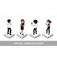 virtual communication landing social media vector image vector image
