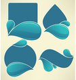 water stickers vector image