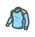 wet suit diving clothes icon cartoon vector image