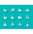 White modern icons for industrial buildings vector image