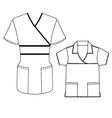 Women Spa uniform vector image vector image
