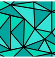 Pattern with green triangle vector image