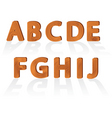 wood grain fonts vector image