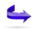 blue arrow web 3d shiny icon vector image