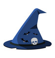 witchs hat cartoon icon on green background vector image