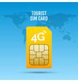 4g sim card world prepaid internet gsm phone vector image