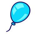 balloon in cartoon style cute vector image