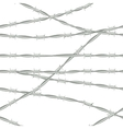 Barbed wire Seamless background barbed wire vector image vector image