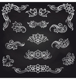 Baroque engraving leaf scroll design vector image vector image