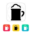 Beer mug with foam icon vector image