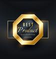 best product guarantee golden seal label design vector image vector image