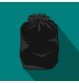 Black trash bag icon flat style vector image vector image