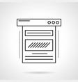 blog web page flat line icon vector image