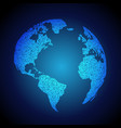 blue earth background made with dots vector image vector image